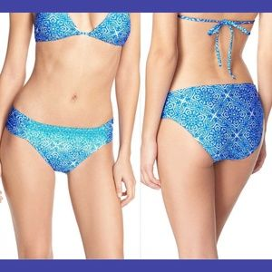 NWT! La Blanca Tile Shirred Hipster Bikini Bottom